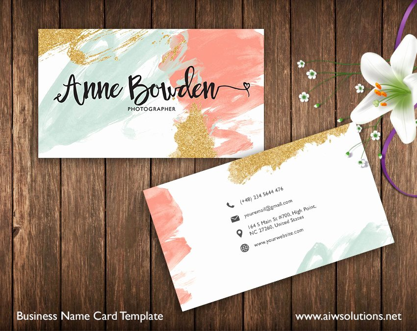 Sample Business Card Template Luxury Name Card Template Business Card Templates Creative Market