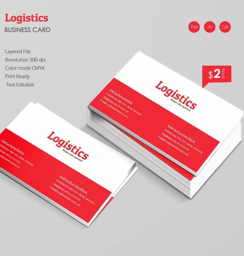 Sample Business Card Template New Elegant Logistics Business Card Template