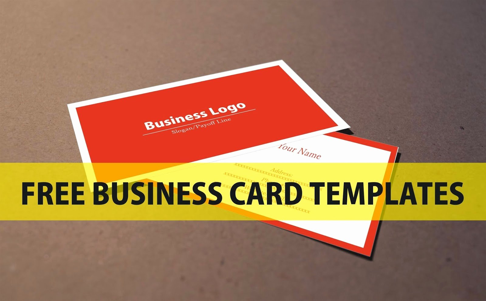 Sample Business Card Template Unique Free Business Card Template