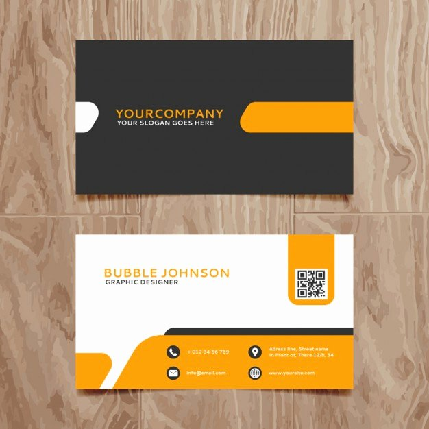 Sample Business Card Template Unique Modern Simple Business Card Template Vector
