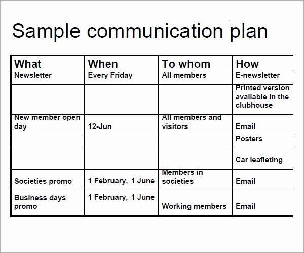 Sample Crisis Communication Plan Template Elegant 11 Samples Of Munication Plan Templates