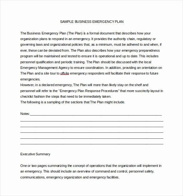 Sample Crisis Communication Plan Template Elegant 14 Emergency Plan Templates Free Sample Example