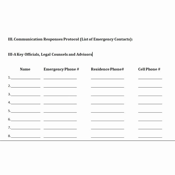 Sample Crisis Communication Plan Template Inspirational Free Downloadable Template A Plan for Crisis Management