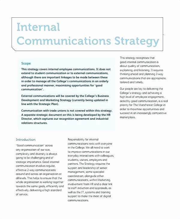 Sample Crisis Communication Plan Template New Internal Crisis Munications Plan Template Free