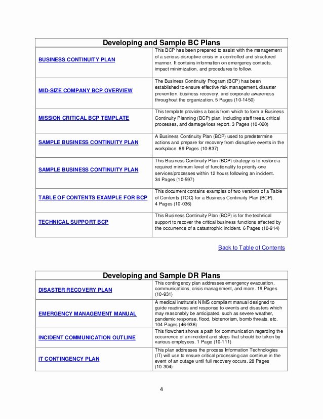 Sample Disaster Recovery Plan Template Fresh Tk003 Disaster Recovery & Business Continuity