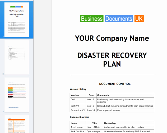 Sample Disaster Recovery Plan Template Luxury Disaster Recovery Plan Template