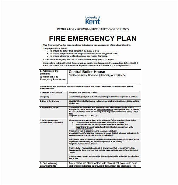 Sample Emergency Evacuation Plan Template Awesome 14 Emergency Plan Templates Free Sample Example