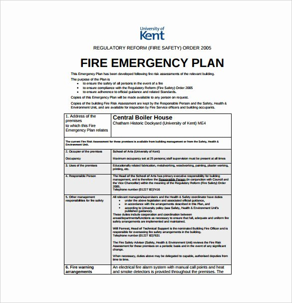 Sample Emergency Evacuation Plan Template Awesome Emergency Preparedness Plan Template Uk Templates