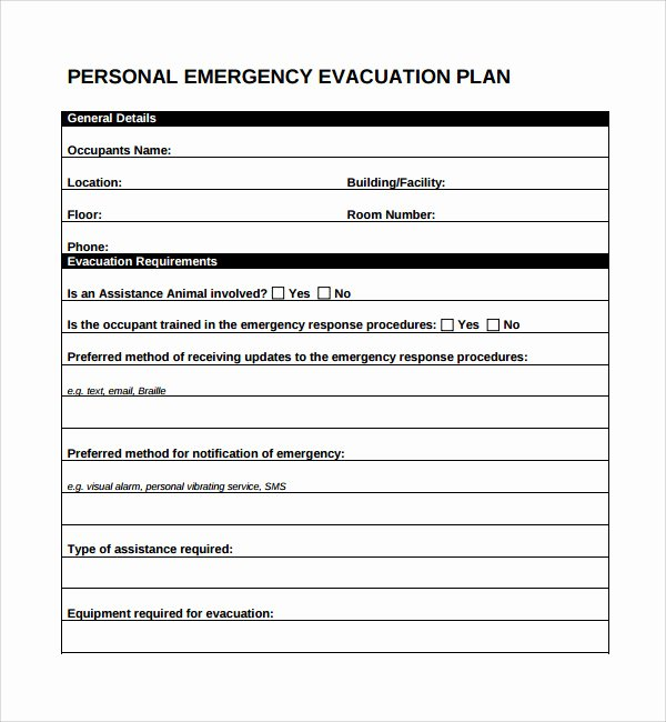 Sample Emergency Evacuation Plan Template Best Of 10 Evacuation Plan Templates