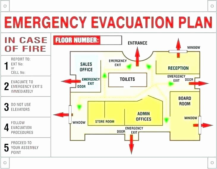 Sample Emergency Evacuation Plan Template Best Of Emergency Evacuation Plans for Businesses Sample