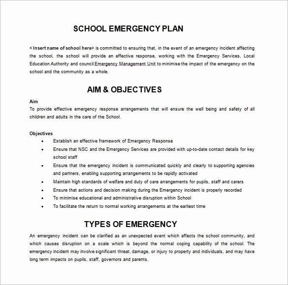 Sample Emergency Evacuation Plan Template Inspirational 14 Emergency Plan Templates Free Sample Example