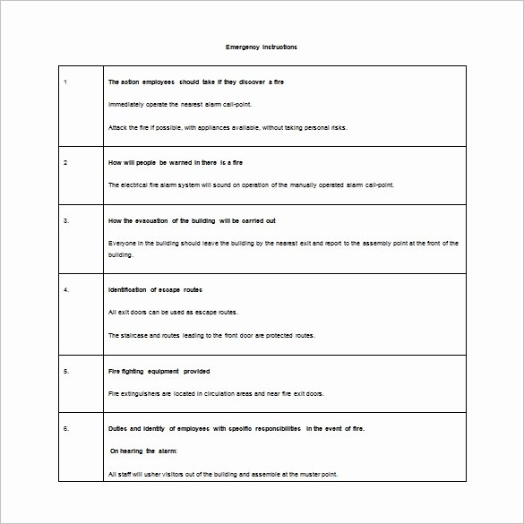 Sample Emergency Evacuation Plan Template Lovely 12 Evacuation Plan Templates Google Docs Ms Word