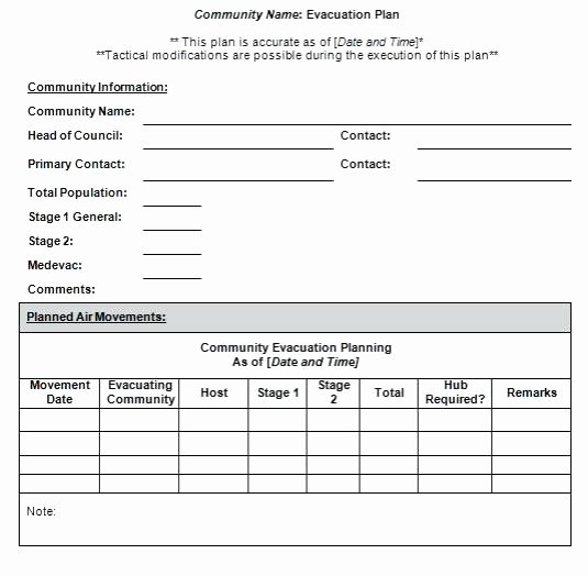 Sample Emergency Evacuation Plan Template Luxury Emergency Evacuation Procedure Template – Mixmix