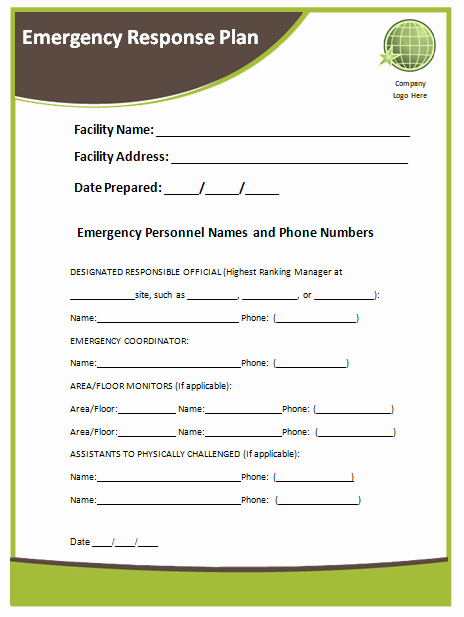 Sample Emergency Evacuation Plan Template Unique Emergency Response Plan Template Microsoft Word Templates
