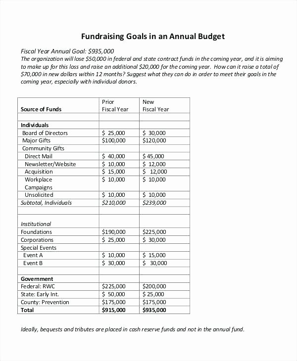 Sample Nonprofit Budget Template Luxury Fiscal Year Bud Template – Flybymedia