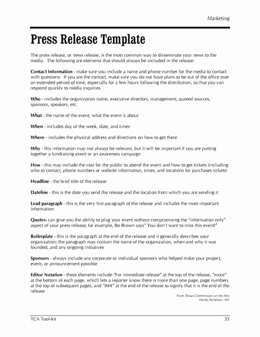 Sample Press Release Template Inspirational 46 Press Release format Templates Examples & Samples