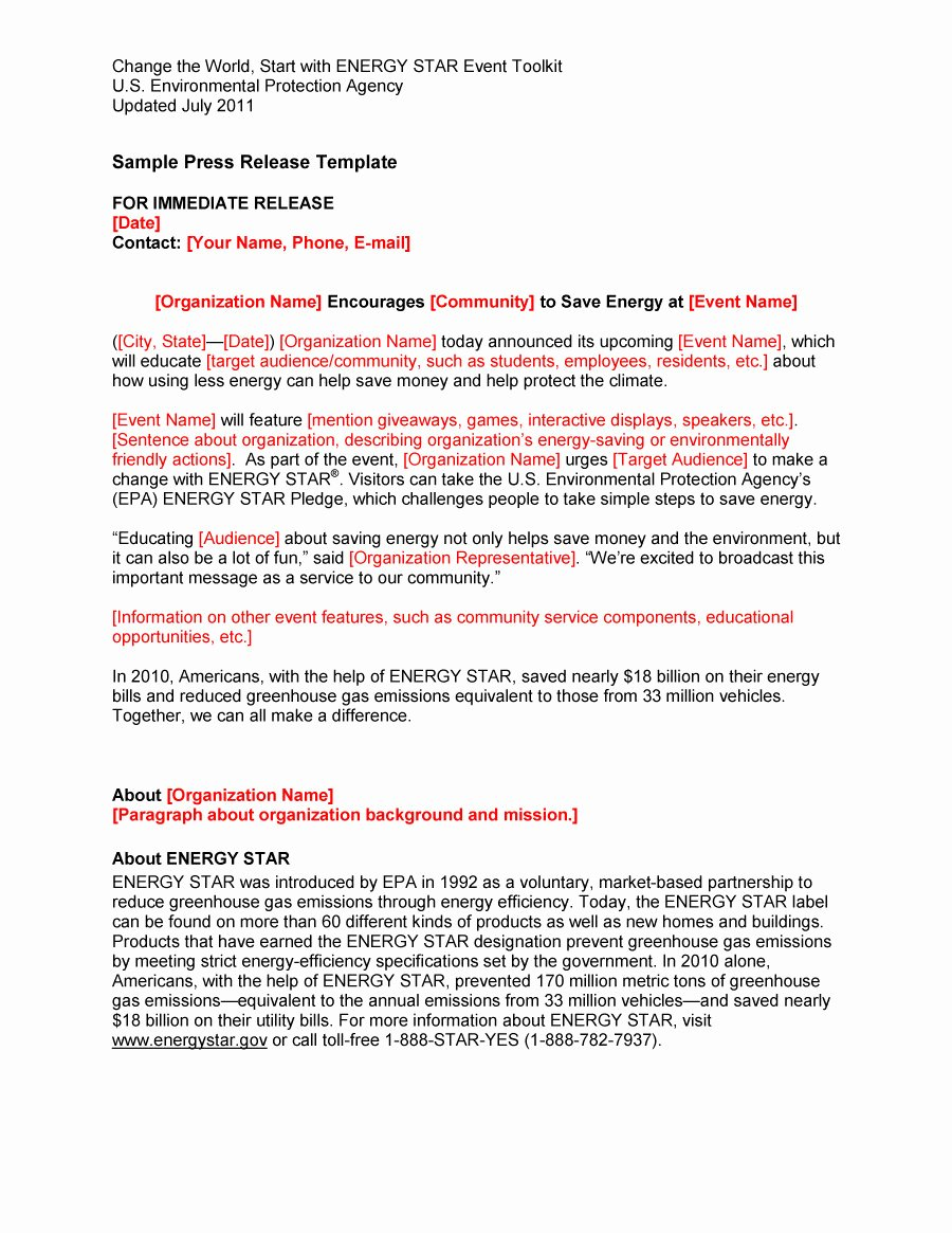 Sample Press Release Template New 47 Free Press Release format Templates Examples & Samples