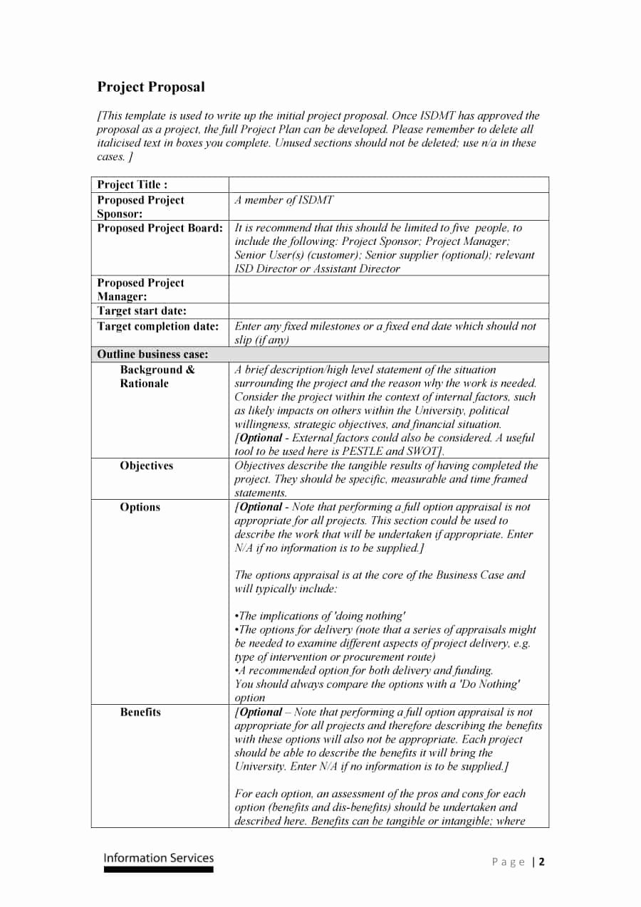 Sample Project Plan Template Fresh 43 Professional Project Proposal Templates Template Lab