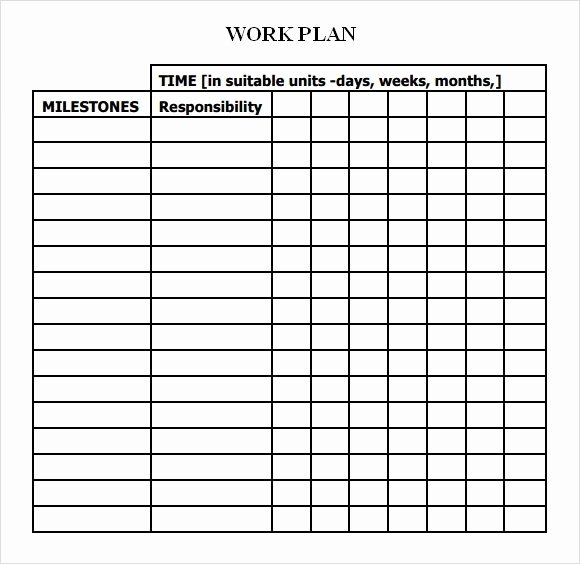 Sample Project Plan Template Unique Work Plan Template 17 Download Free Documents for Word