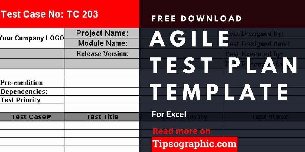 Sample Test Plan Template Elegant Agile Test Plan Template for Excel Free Download