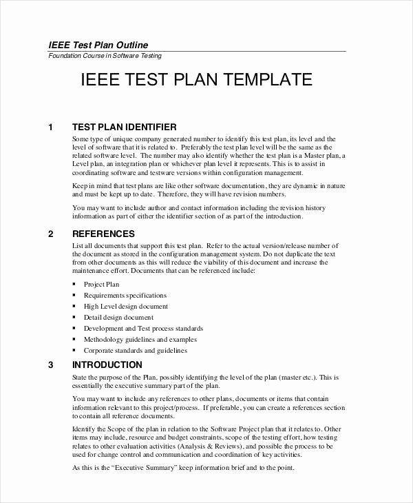 Sample Test Plan Template Inspirational 7 Sample Test Plan Templates