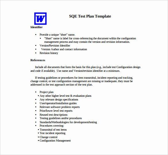 Sample Test Plan Template Luxury 15 Test Plan Templates Pdf Doc