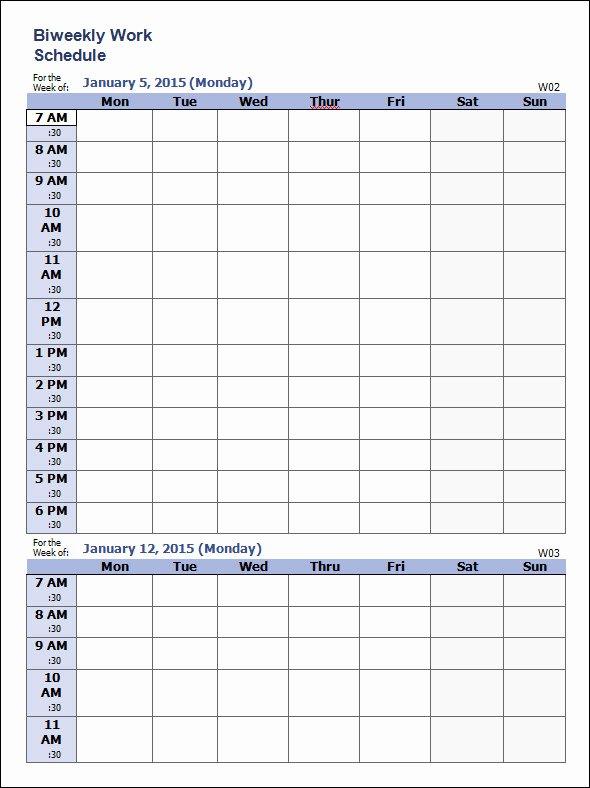 Sample Work Schedule Template Elegant Weekly Schedule Template 9 Download Free Documents In
