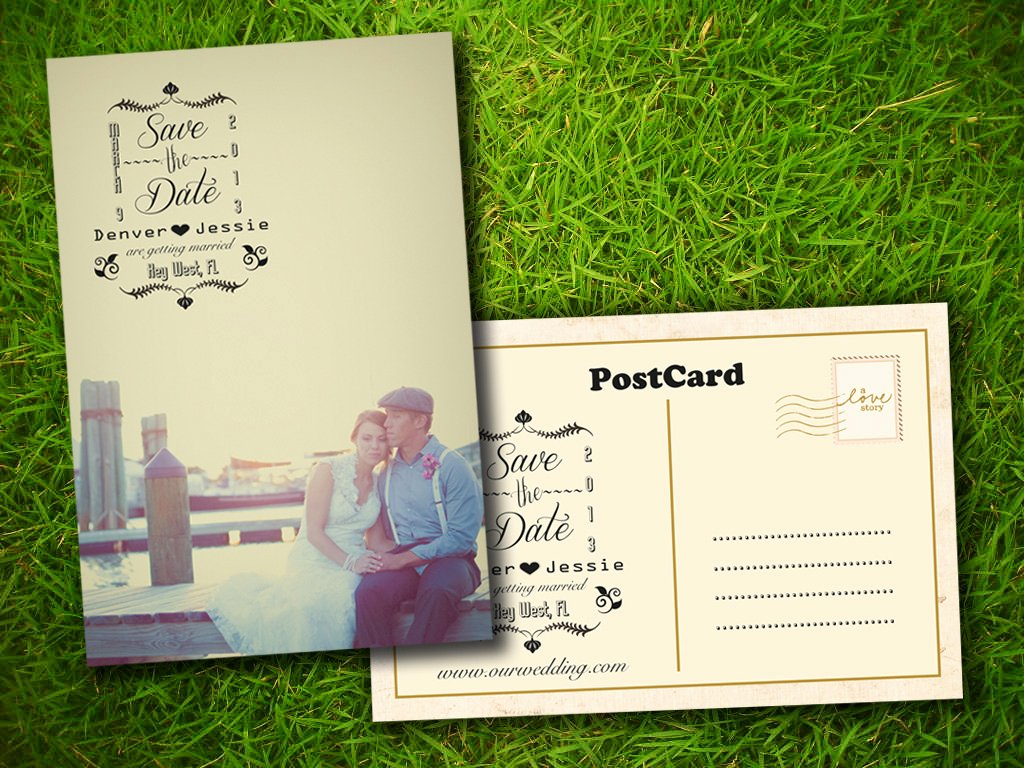 Save the Date Postcard Template Awesome 8 Best Of Save the Date Postcards Rustic Country