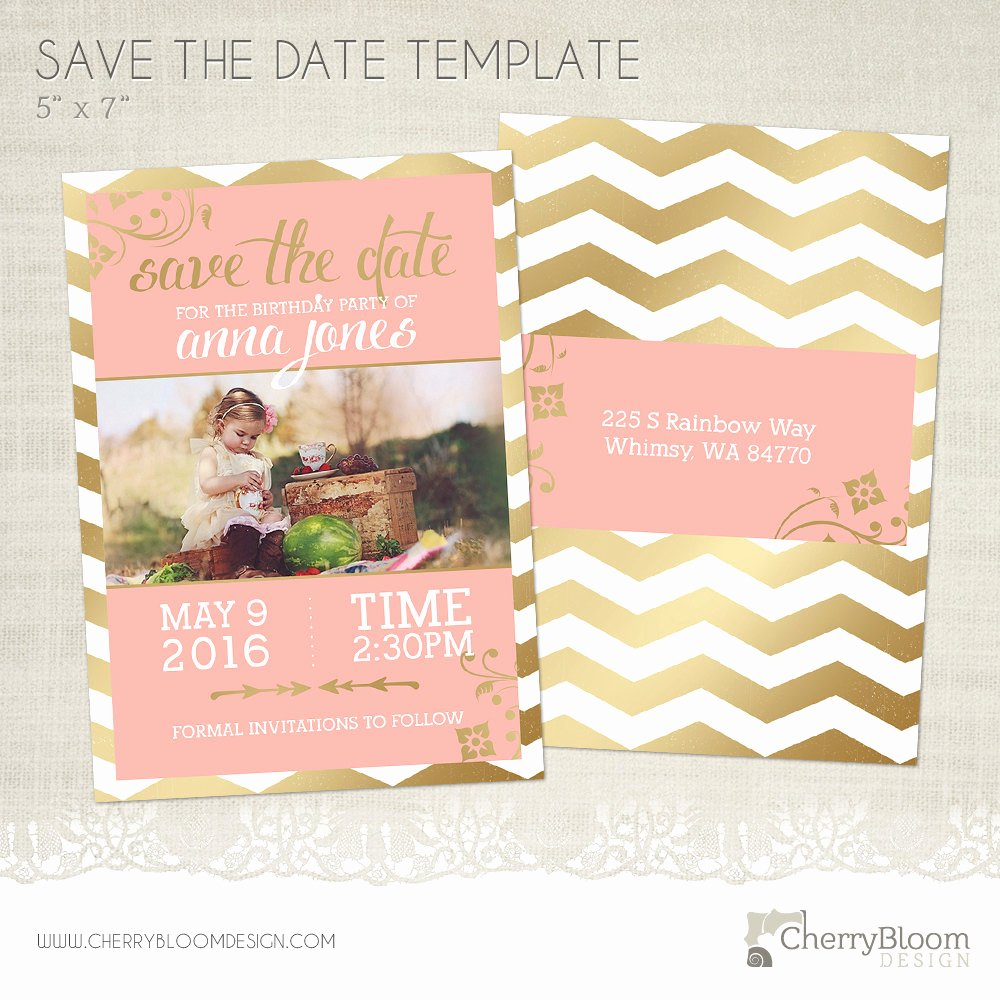Save the Date Postcard Template Beautiful Birthday Save the Date Card Template for Graphers Bd02
