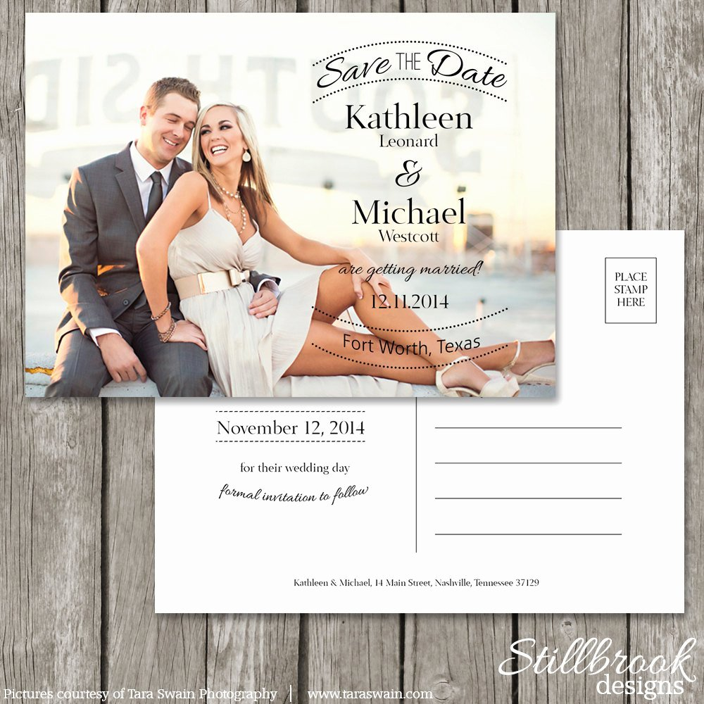 Save the Date Postcard Template Beautiful Save the Date Postcard Template Wedding Save the Date
