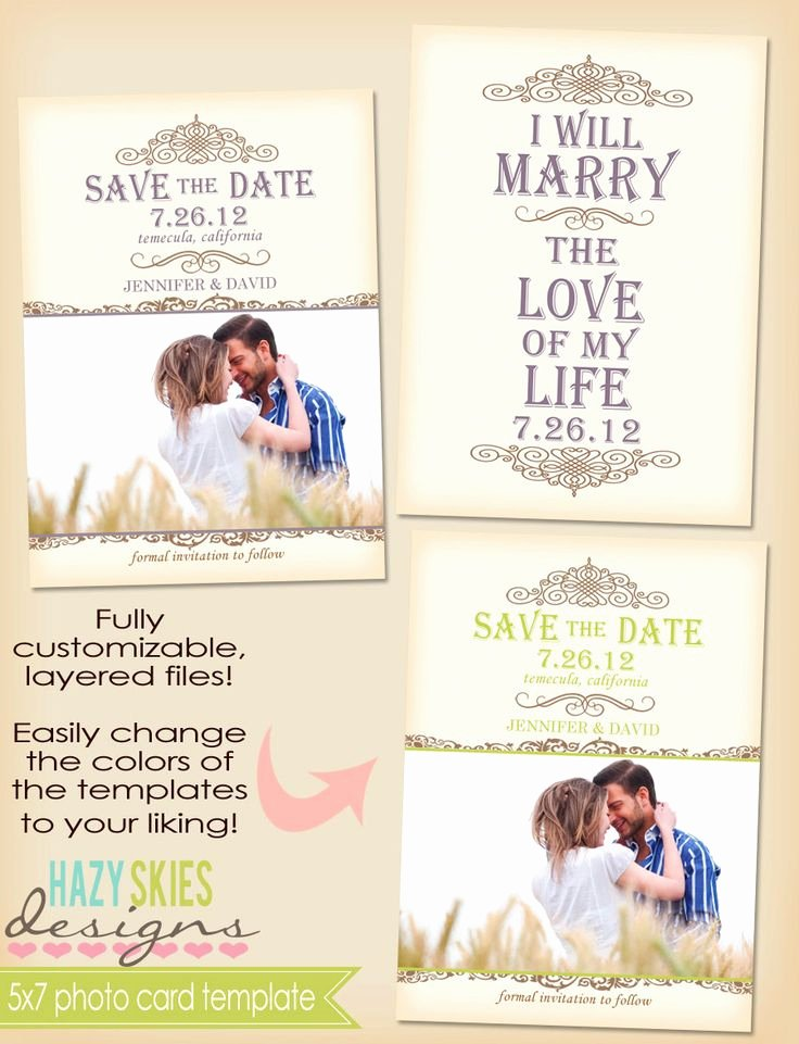 Save the Date Postcard Template Best Of 5x7 Postcard Template