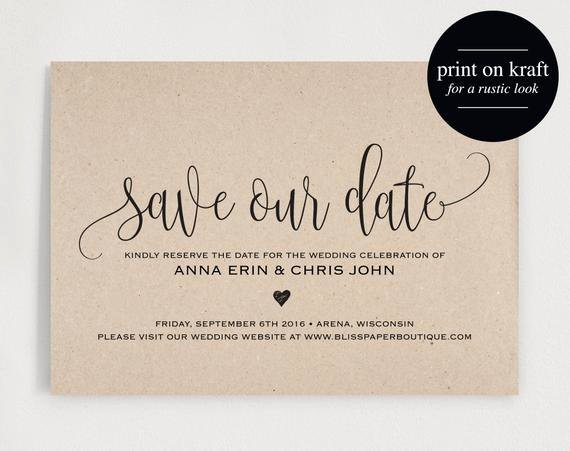 Save the Date Postcard Template Best Of Save the Date Template Save the Date Card by