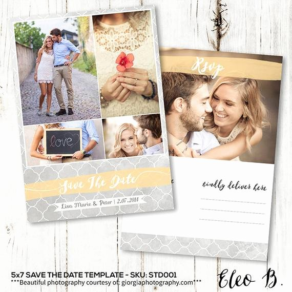Save the Date Postcard Template Inspirational 5x7 Save the Date Postcard Template Engagement Announcement