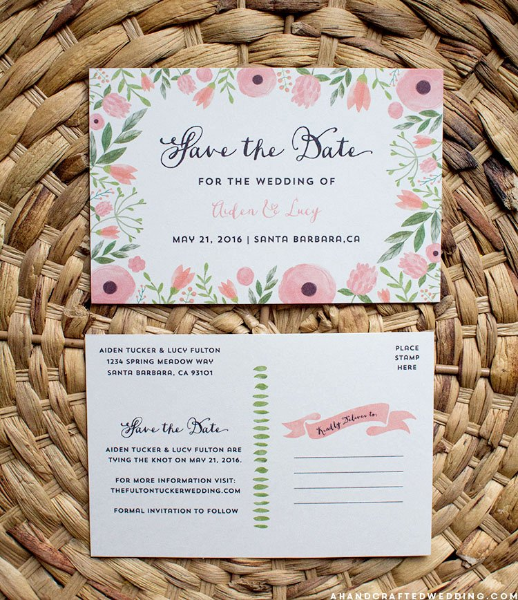 Save the Date Postcard Template Lovely Free Printable Save the Date Postcard Templates Diy Style