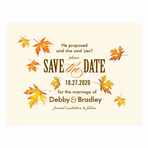 Save the Date Postcard Template Lovely Save the Date Fall Postcards & Postcard Template Designs