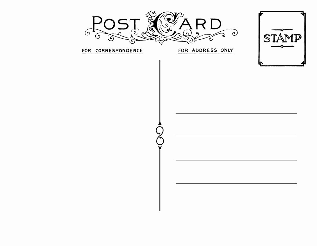 Save the Date Postcard Template Luxury Diy Postcard Save the Date Back