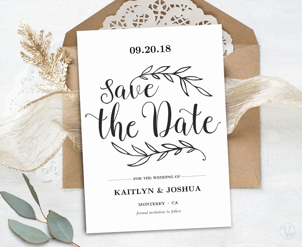 Save the Date Postcard Template Luxury Printable Save the Date Card Template Kraft Save the Date