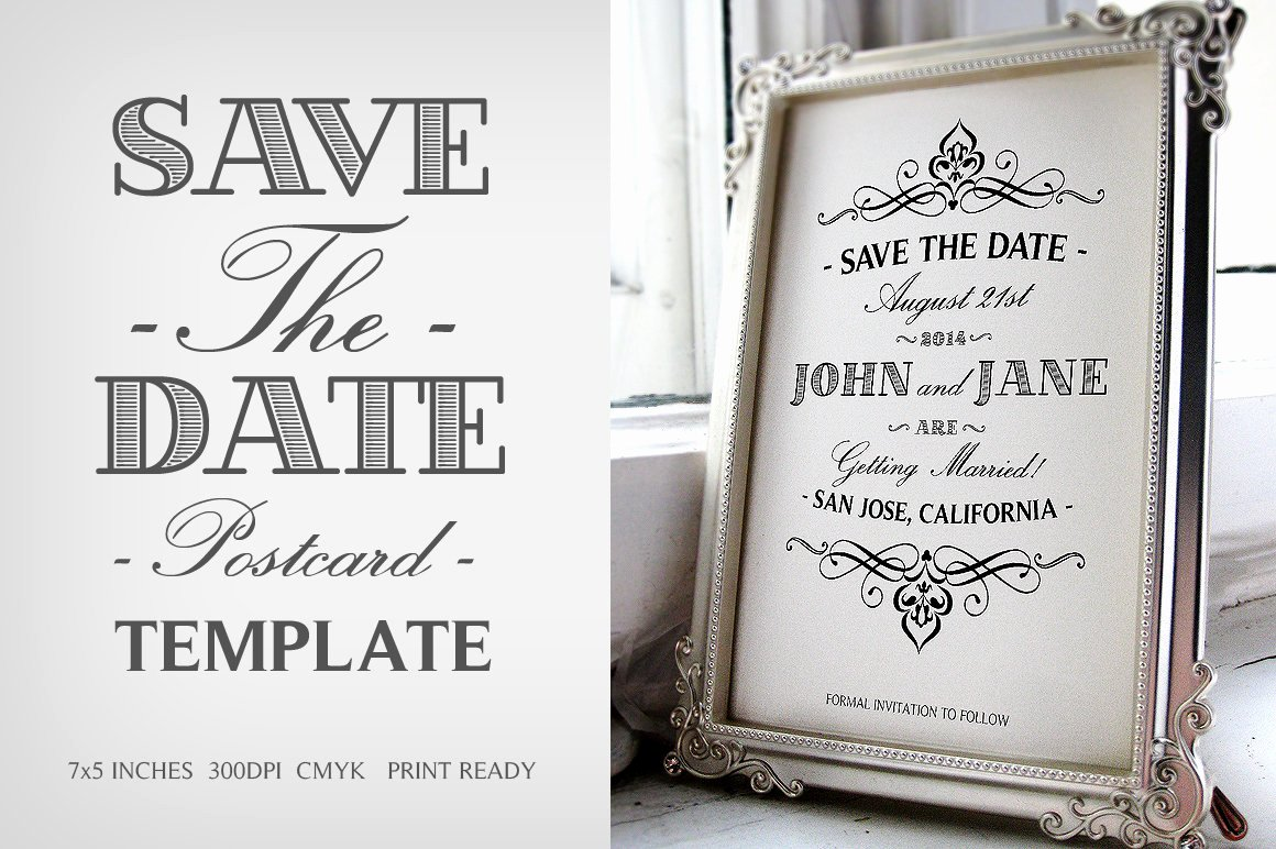 Save the Date Postcard Template Luxury Save the Date Postcard Template V 1 Invitation Templates