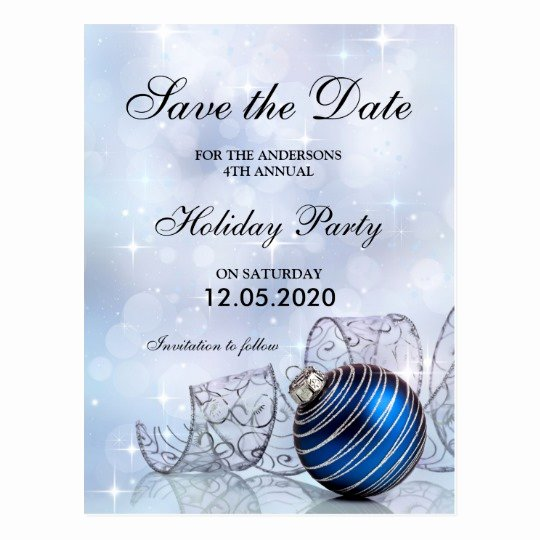 Save the Date Postcard Template New Christmas and Holiday Party Save the Date Template