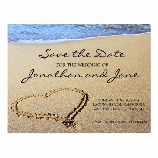 Save the Date Postcard Template Unique Beach Ocean Wedding Save the Date Postcards