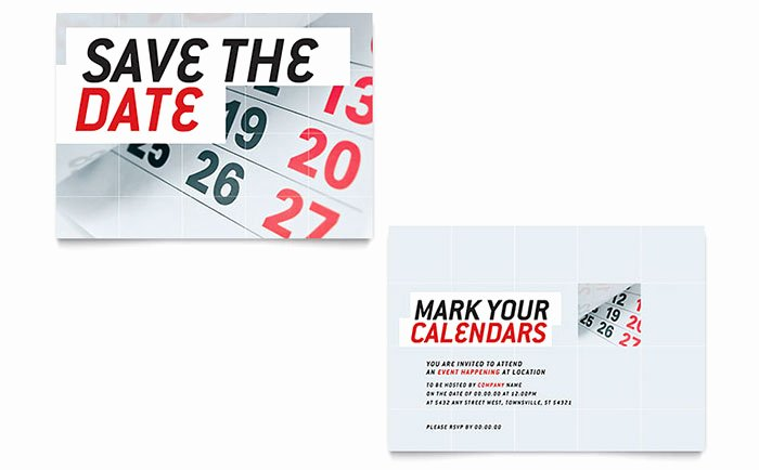 Save the Date Powerpoint Template Awesome Save the Date Announcement Template Design