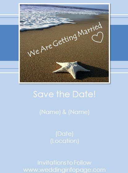 Save the Date Powerpoint Template Best Of Beach Save the Date Card Template