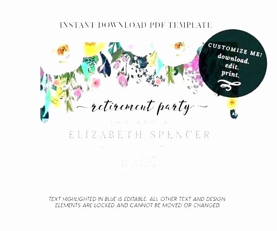 Save the Date Powerpoint Template Elegant Free Retirement Flyer Templates Party Template Save the