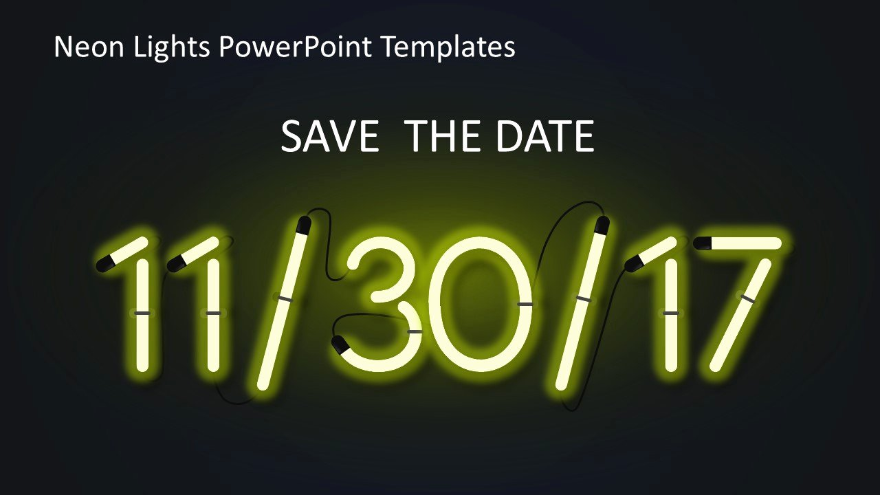 Save the Date Powerpoint Template Elegant Save the Date Powerpoint Template Lovely Numbers Templates