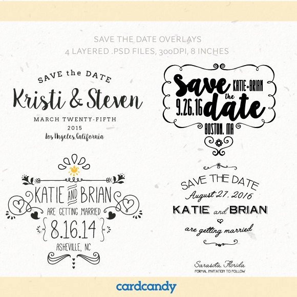 Save the Date Powerpoint Template Inspirational Digital Save the Date Overlays Wedding Card