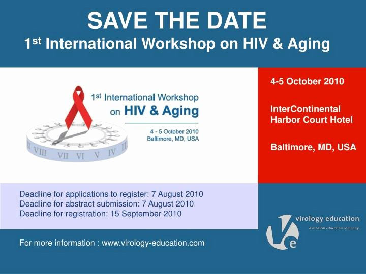 Save the Date Powerpoint Template Lovely Ppt Save the Date 1 St International Workshop On Hiv
