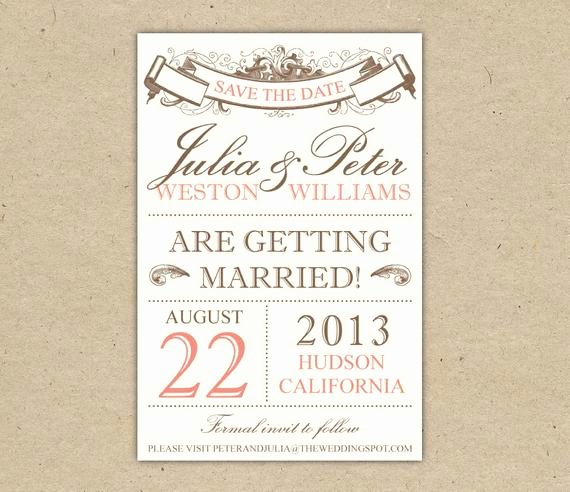 Save the Date Powerpoint Template New Items Similar to Save the Date Custom Printable