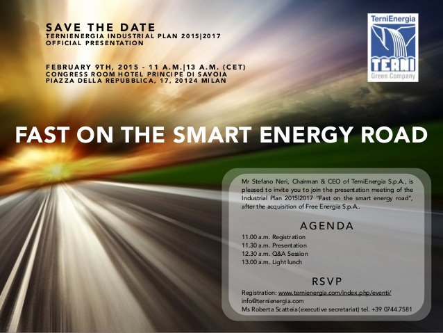Save the Date Powerpoint Template New Save the Date Ternienergia Business Plan 2015 17