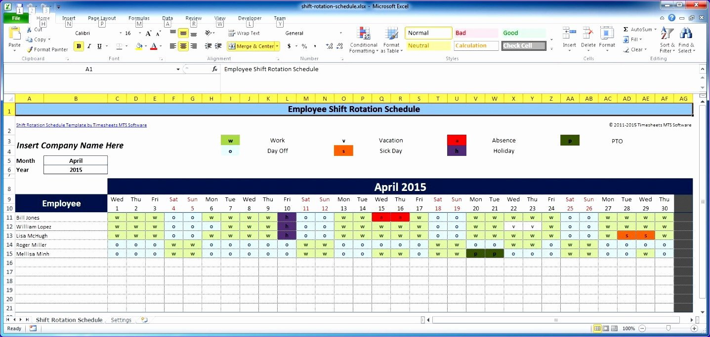 Schedule for Employees Template Awesome 7 Free Excel Timesheet Template Multiple Employees