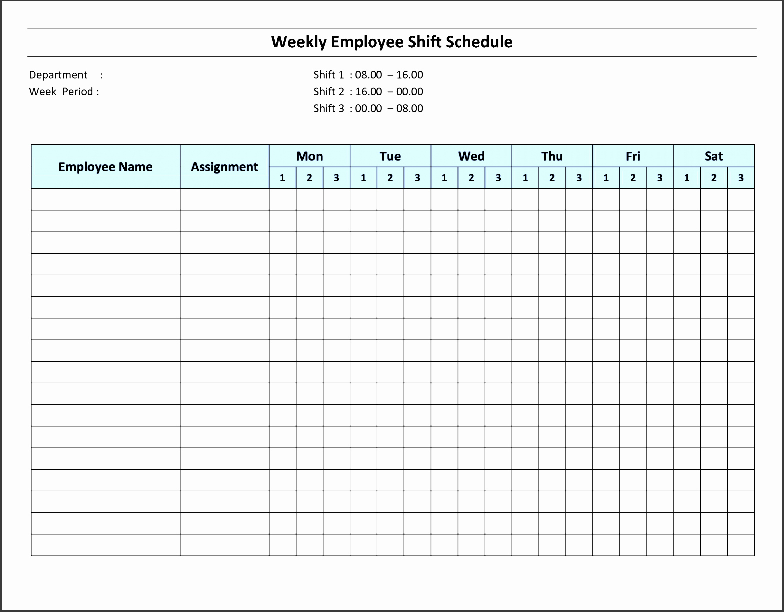 Schedule for Employees Template Luxury 8 Daily Schedule Template for Employees Sampletemplatess